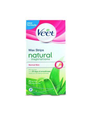 Veet Legs & Body Wax Strips Natural Inspirations Normal Skin 20s