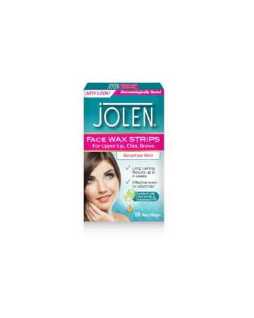 Jolen Face Wax Strips 16s