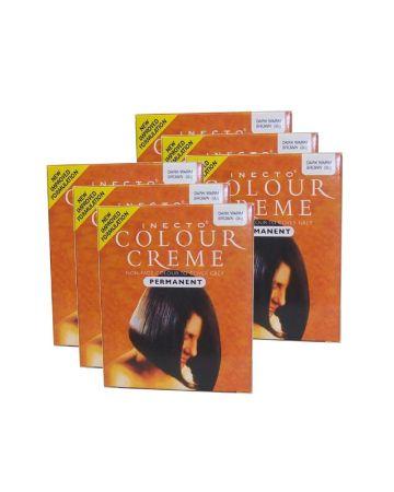 Inecto Colour Creme Dark Warm Brown 3.25