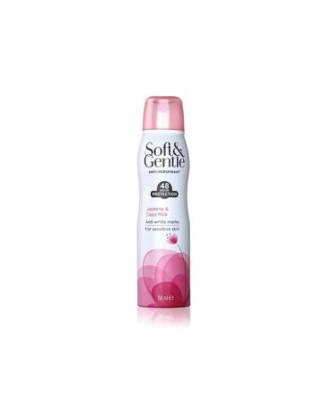 Soft & Gentle Anti-Perspirant Deodorant Spray Jasmine & Coco Milk 150ml