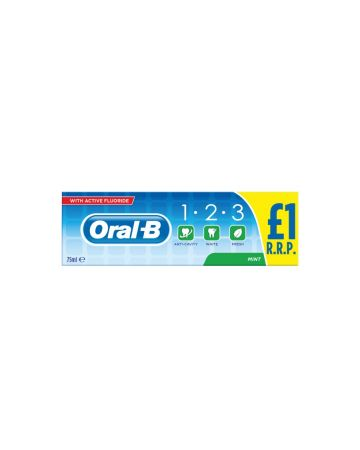 Oral B 123 Toothpaste 75ml (PM £1.00)