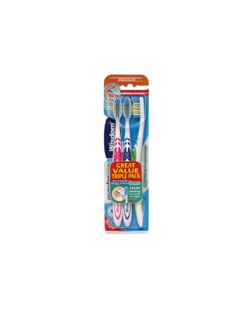 Wisdom Regular Fresh Toothbrush Medium (Triple Pack)