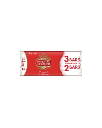 Imperial Leather Original Soap 3 x 100g (3 For 2)