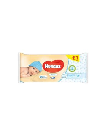 Huggies Pure Wipes 56s (PM £1.00)
