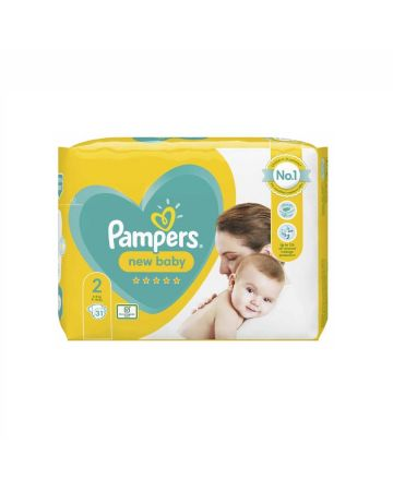 Pampers New Baby Size 2 Nappies 31s