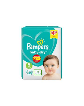 Pampers Baby Dry Junior Size 5 23s (PM £4.99)