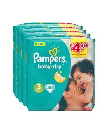 Pampers Baby Dry Midi Size 3 30s (pm 4.99)