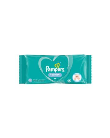 Pampers Fresh Clean Baby Scented Wipes 52s