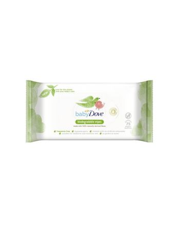 Dove Baby Biodegradable Fragrance Free Wipes 75s