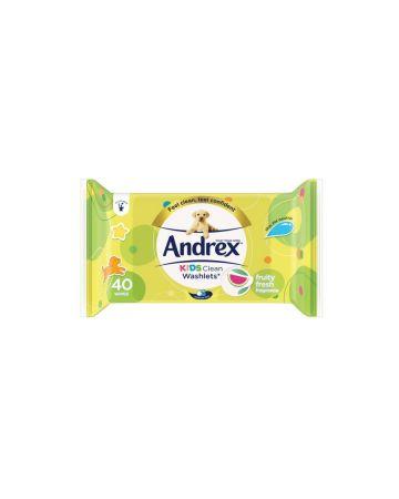 Andrex Kids Clean Washlets 40 Wipes