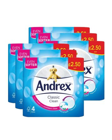 Andrex Toilet Roll 4s White (pm £2.50)
