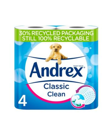 Andrex Toilet Roll White 4s