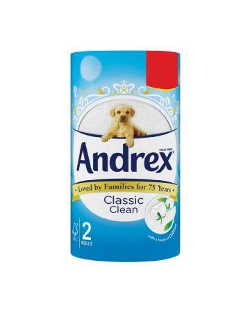 Andrex Classic White Toilet Rolls 2s (PM £1.29)