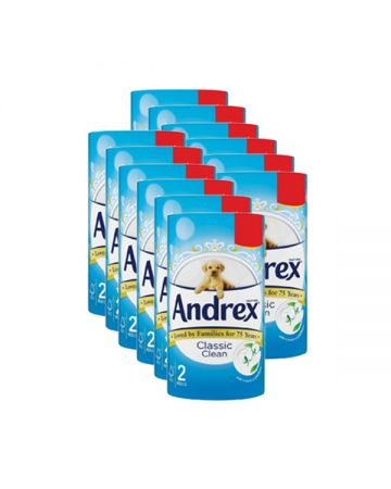 Andrex Classic White Toilet Rolls 2s (pm £1.29)