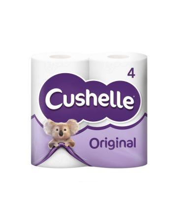 Cushelle Toilet Rolls White 4s