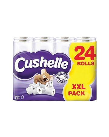 Cushelle Toilet Roll White 24s