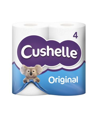 Cushelle Toilet Roll White 4s