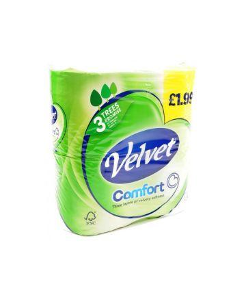 Velvet Comfort Toilet Rolls 4s (PM 1.99)