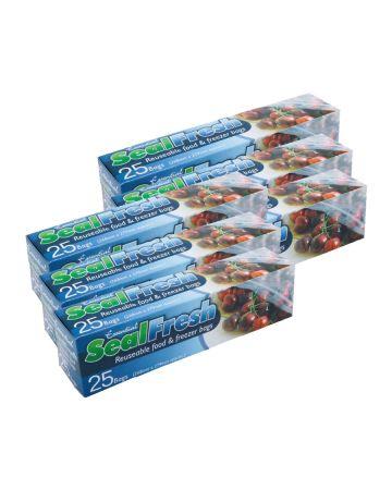 Essential Sealfresh Reusable Food & Freezer Bags 25s