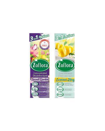 Zoflora Disinfectant Lemon Zing & Secret Garden 250ml