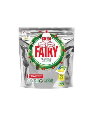 Fairy Platinum All In One Lemon Dishwasher Capsules 70s