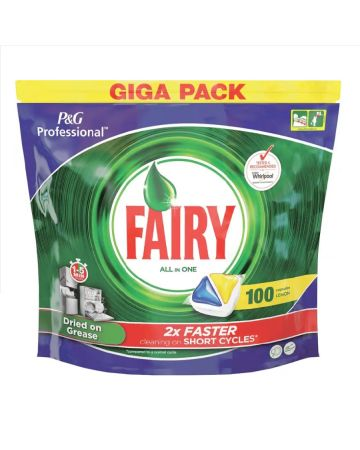 Fairy All In One Dishwasher Tablets Lemon 100s