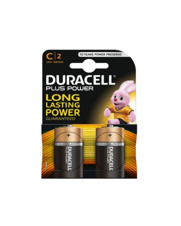 Duracell Plus Power C Batteries MN1400 (2 Pack)