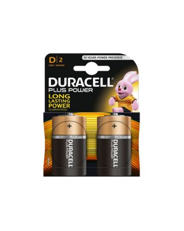 Duracell Plus Power D Batteries MN1300 (2 Pack)