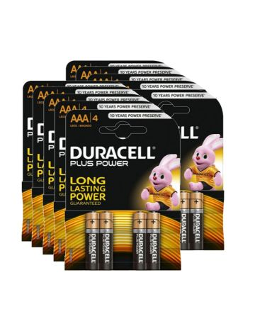 Duracell Plus Power Aaa Batteries Mn2400 (4 Pack)