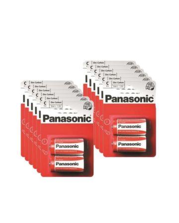 Panasonic C R14 Zinc Carbon Batteries 2s