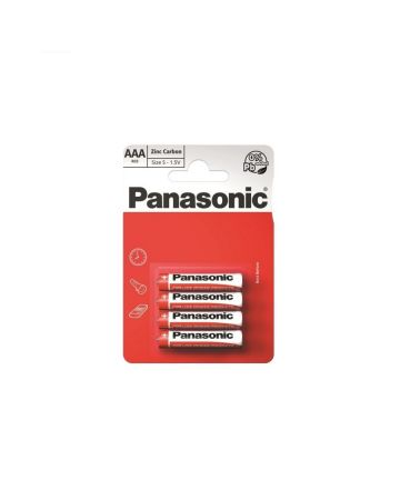 Panasonic AAA R03 Zinc Carbon Batteries 4s