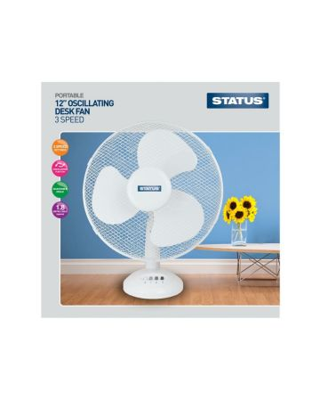 Status Desk Fan 12 Inches