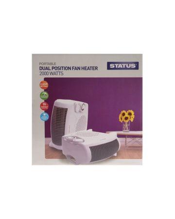 Status Dual Position Fan Heater 2000 Watts