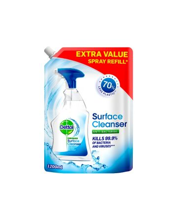 Dettol Surface Cleanser Spray Refill Pouch 1.2ltr