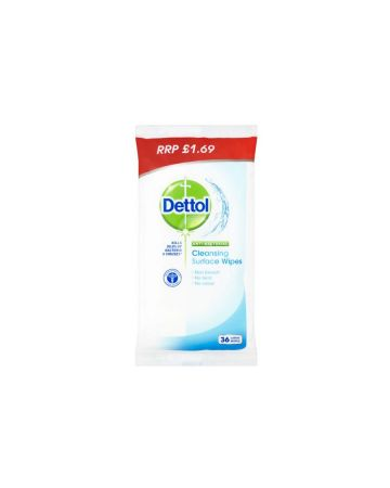 Dettol Cleansing Wipes 36s (PM £1.69)