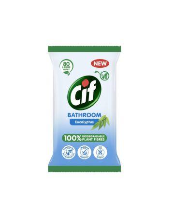 Cif Biodegradable Eucalyptus Bathroom Wipes 80s