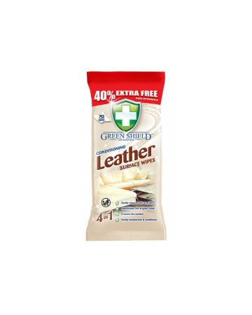 Green Shield Leather Surface Wipes 70s