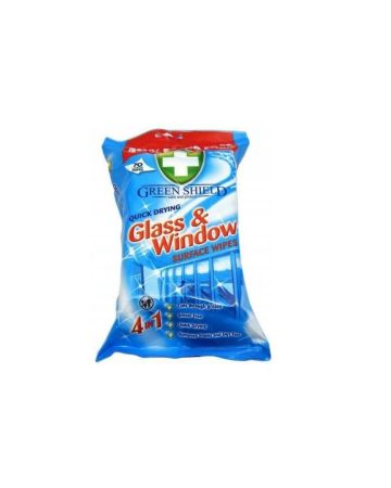 Green Shield Glass & Window Wipes 70s