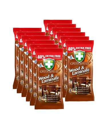 Green Shield Wood & Laminate Surface Wipes 70s