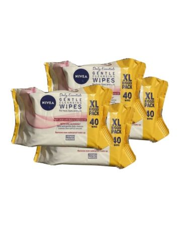 Nivea Daily Essentials Daily Cleansing Wipes Dry Skin 40s