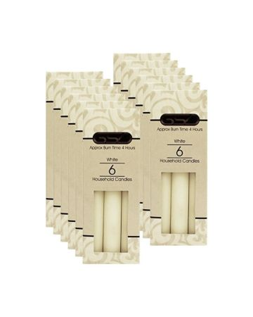 Gsd White Household Candles 6s