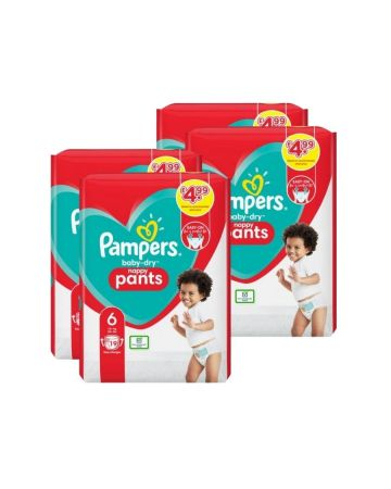 Pampers Baby Dry Nappy Pants Size 6 19s (pm £4.99)