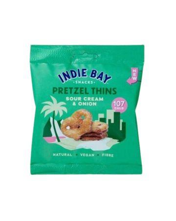 Indie Bay Snacks Pretzel Thins Sour Cream & Onion