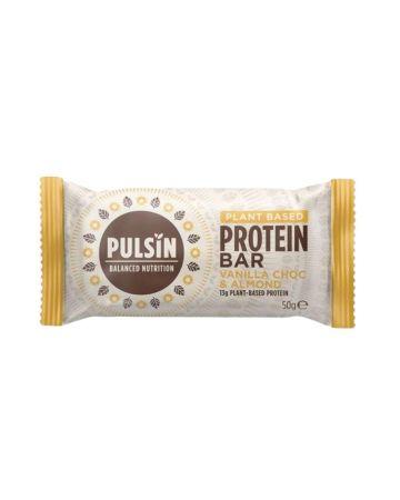 Pulsin Plant Based Protein Bar Vanilla Choc & Almond