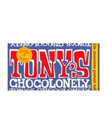 Tony's Chocolonely Dark Milk Chocolate Pretzel Toffee 42%