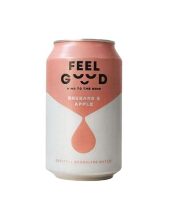 Feel Good Rhubarb And Apple Fruitful Sparkling Water