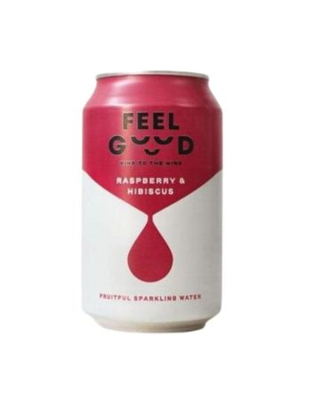 Feel Good Raspberry And Hibiscus Fruitful Sparkling Water
