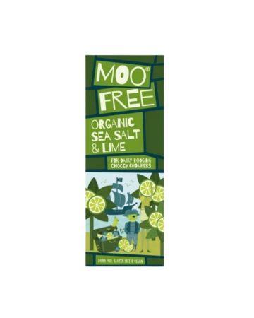 Moo Free Marvellously Moreish Organic Sea Salt & Lime Cocoa Bar