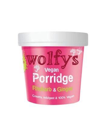 Wolfys Vegan Porridge Rhubarb & Ginger