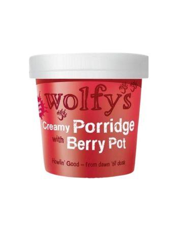 Wolfys Creamy Porridge With Berry Pot